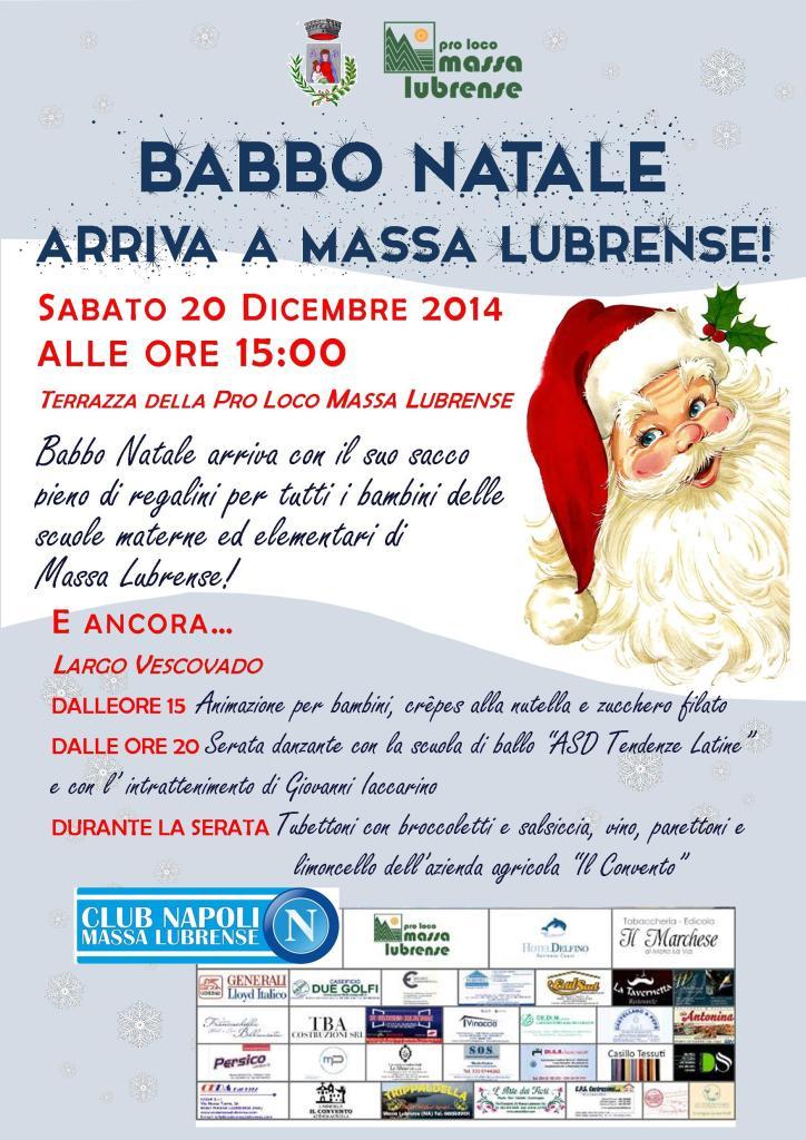 Locandina Babbo Natale 2014