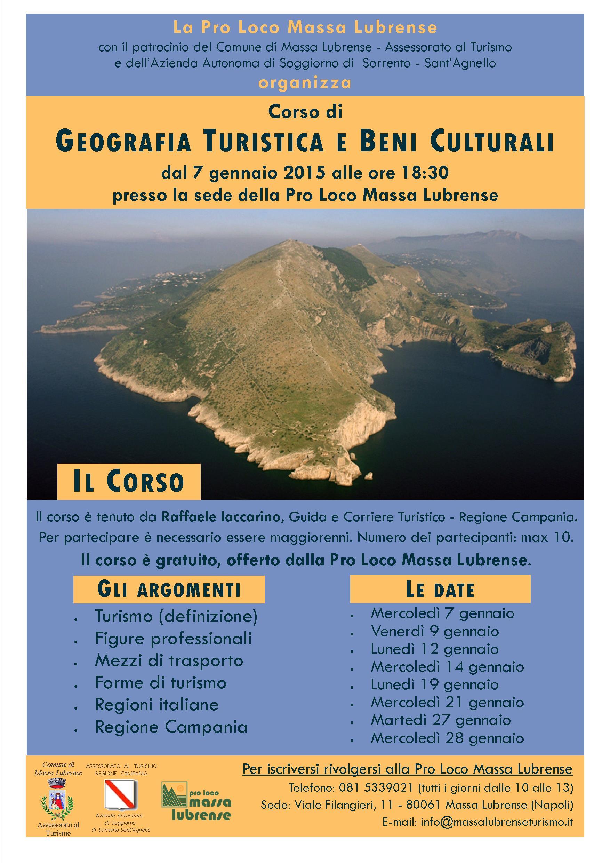 Corso di Geografia Turistica e Beni Culturali – Gennaio 2015 - Massa ...