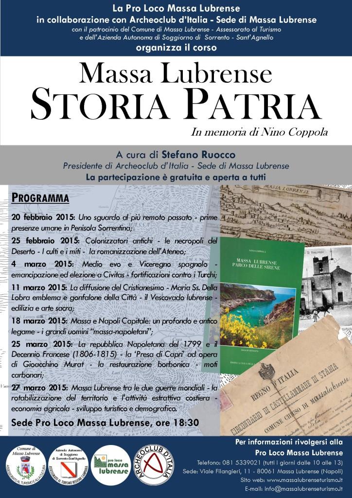 Locandina Corso Storia Patria