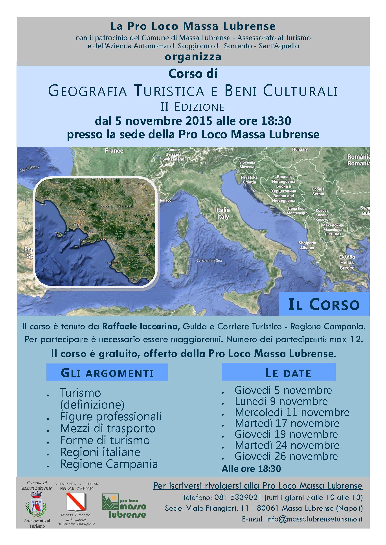 Corso di GEOGRAFIA TURISTICA E BENI CULTURALI - Massa Lubrense