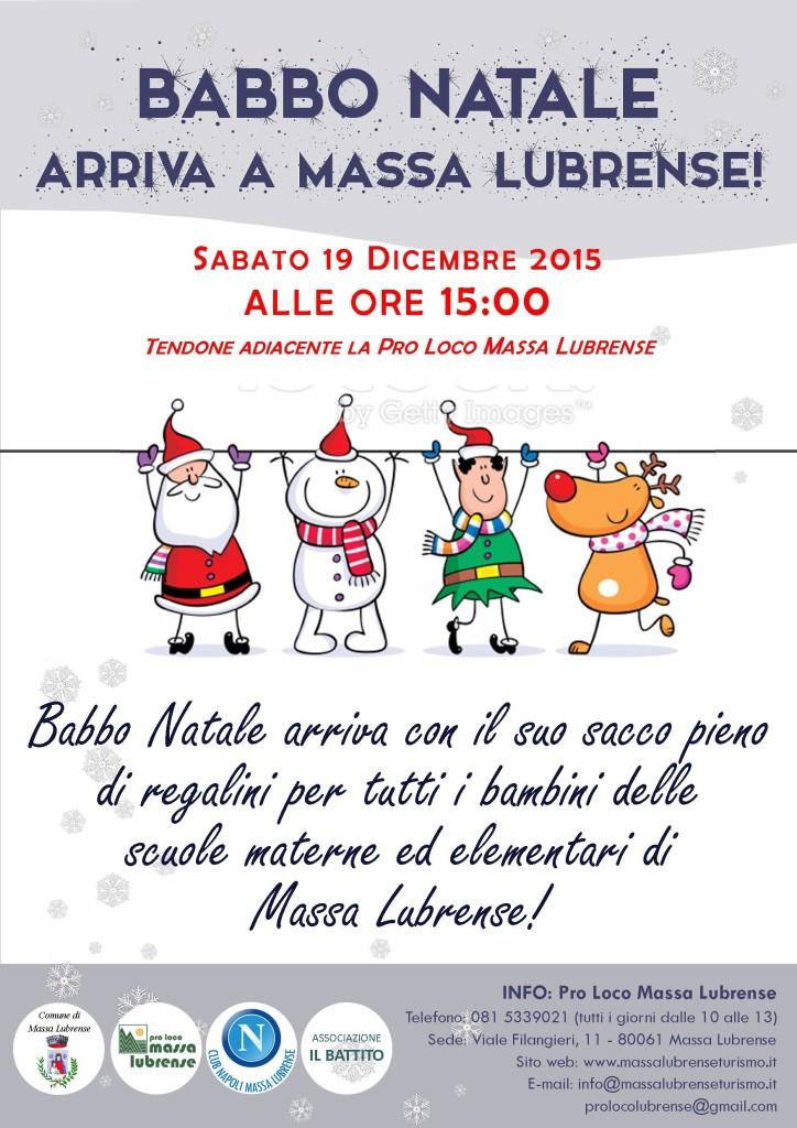 Locandina Babbo Natale 2015