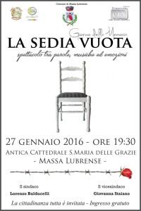 Giornata Della Memoria La Sedia Vuota Massa Lubrense