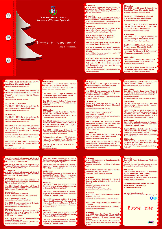 Natale a Massa Lubrense 2016-2017 | Programma eventi