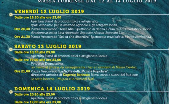 Limoni in Festa 2019 Locandina sagra limone massa lubrense
